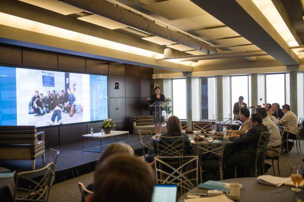 Jini Kim, founder of Nuna, presents during the Top of Mind 2018 Summit