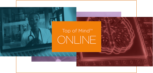 Top of Mind ONLINE Masthead graphic
